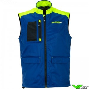 Kenny Body warmer - Navy / Neon Yellow