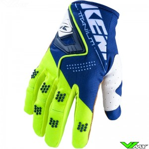Kenny Titanium 2020 Motocross Gloves - Navy / Neon Yellow