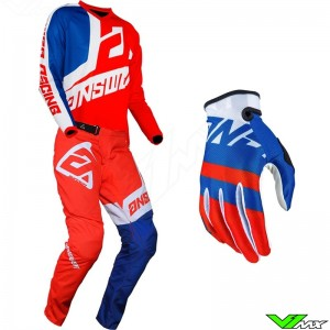 Answer Syncron 2020 Motocross Gear Combo - Voyd / Red / Reflex