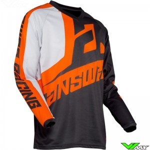 Answer Syncron 2020 Kinder Cross shirt - Voyd / Charcoal / Oranje