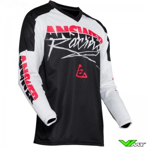 Answer Syncron 2020 Youth Motocross Jersey - Pro Glow / White / Black / Pink