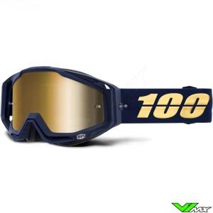 100% Racecraft Bakken Crossbril - Mirror Goud