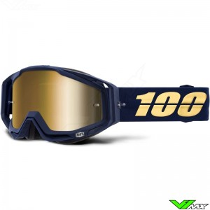 100% Racecraft Bakken Motocross Goggle - Mirror Gold