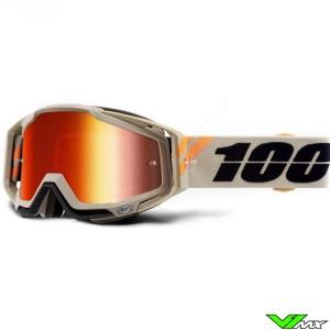 100% Racecraft Poliet Motocross Goggle - Mirror Red