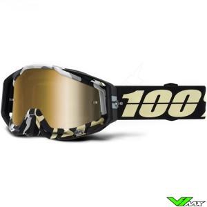 100% Racecraft Ergoflash Crossbril - Mirror Goud