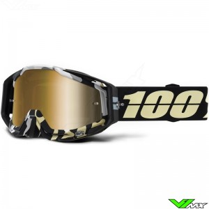 100% Racecraft Ergoflash Motocross Goggle - Mirror Gold