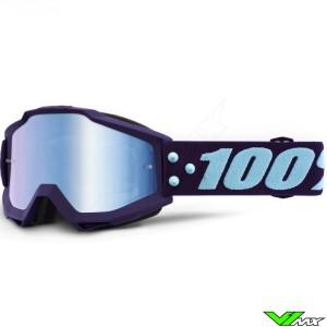 100% Accuri Manuever Crossbril - Mirror Blauw