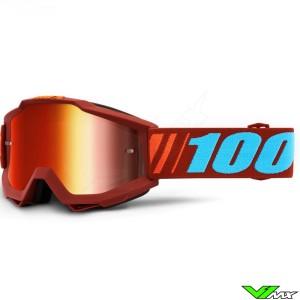 100% Accuri Dauphine Crossbril - Mirror Rood