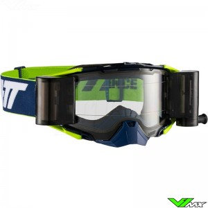 Leatt Velocity 6.5 Motocross Goggle with Roll-off - Blue / Yellow