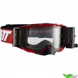Leatt Velocity 6.5 Motocross Goggle with Roll-off - Red