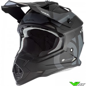 Oneal 2 Series Motocross Helmet - Slick / Black / Grey