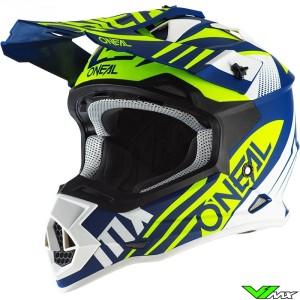 Oneal 2 Series Motocross Helmet - Spyde / Blue / Fluo Yellow