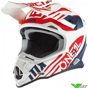 Oneal 2 Series Motocross Helmet - Spyde / White / Red / Blue