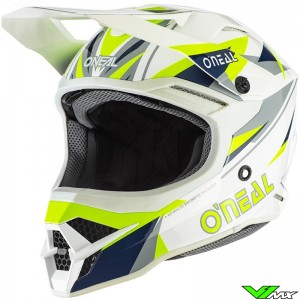 Oneal 3 Series Motocross Helmet - Triz / White / Fluo Yellow