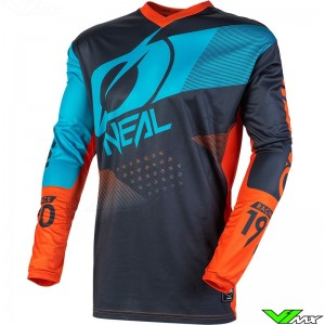Oneal Element Factor 2020 Motocross Jersey - Grey / Blue / Orange