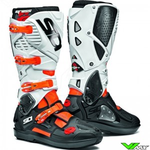 Sidi Crossfire 3 SRS Motocross Boots - White / Fluo Orange
