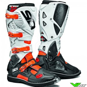 Sidi Crossfire 3 Motocross Boots - White / Fluo Orange