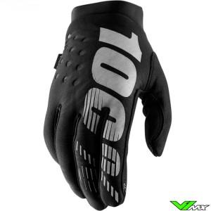 100% Brisker Youth Motocross Gloves - Black