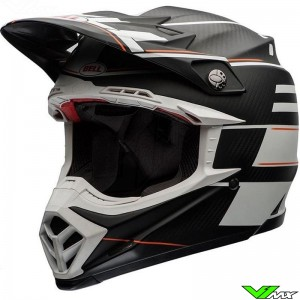 Bell Moto-9 Flex Motocross Helmet - Blocked / White (XL/XXL)