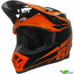 Bell Moto-9 Motocross Helmet - Tracker / Orange (M/L)