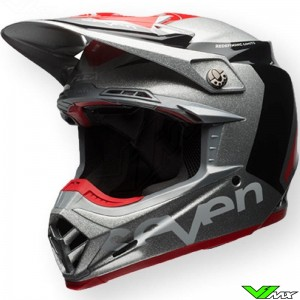 Bell Moto-9 Flex Motocross Helmet - Seven / Rogue / Grey
