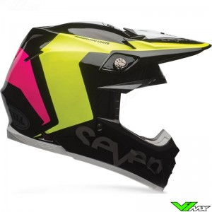 Bell Moto-9 Flex Motocross Helmet - Seven / Rogue / Black / Fluo Yellow