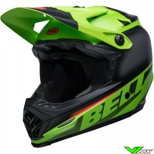 Bell Moto-9 Youth Crosshelm - Glory / Zwart / Groen