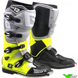 Gaerne SG-12 Motocross Boots - Grey / Fluo Yellow