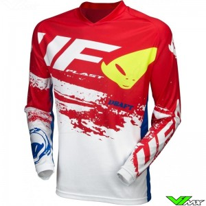 UFO Draft 2020 Cross shirt - Wit / Rood