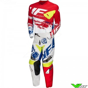 UFO Draft 2020 Motocross Gear Combo - White / Red