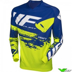 UFO Draft 2020 Motocross Jersey - Fluo Yellow / Blue