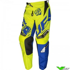 UFO Draft 2020 Motocross Pants - Fluo Yellow / Blue