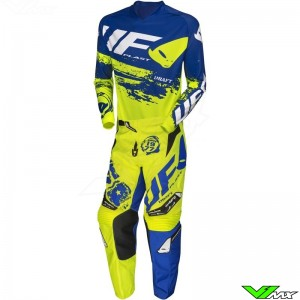 UFO Draft 2020 Motocross Gear Combo - Fluo Yellow / Blue