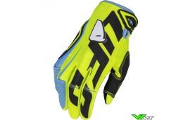 UFO Blaze 2020 Motocross Gloves - Fluo Yellow / Blue