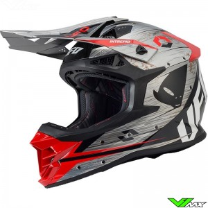 UFO Intrepid Motocross Helmet - Grey / Red