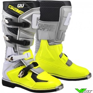 Gaerne GX-J Motocross Boots - Grey / Fluo Yellow
