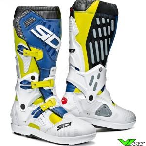 Sidi Atojo SRS Motocross Boots - Fluo Yellow / Blue