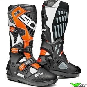 Sidi Atojo SRS Motocross Boots - Black / Fluo Orange