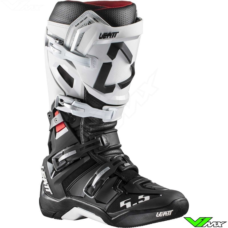 Leatt GPX 5.5 Flexlock Motocross Boots - White / Black