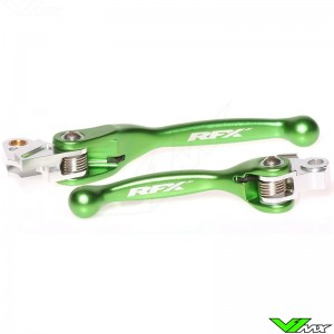 RFX Clutch / Front Brake Lever Set Green - Kawasaki KXF450