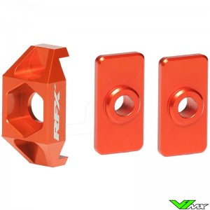 RFX Rear Axel Adjuster Blocks Orange - KTM 50SX