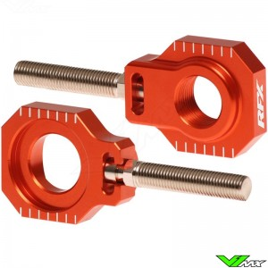 RFX Rear Axel Adjuster Blocks Orange - KTM 125SX 150SX 250SX 250SX-F 350SX-F 450SX-F