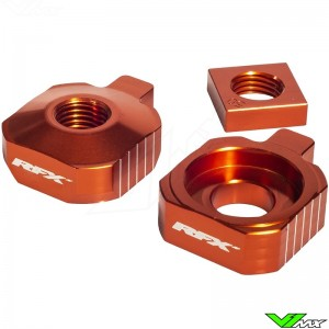 RFX Rear Axel Adjuster Blocks Orange - KTM 65SX