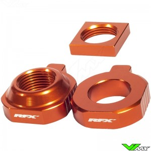 RFX Rear Axel Adjuster Blocks Orange - KTM 85SX
