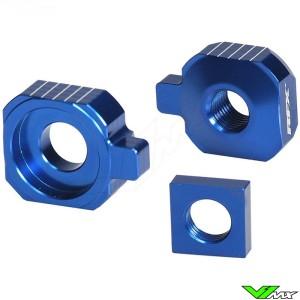 RFX Rear Axel Adjuster Blocks Blue - Husqvarna TC65