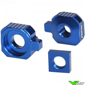 RFX Rear Axel Adjuster Blocks Blue - Husqvarna TC85