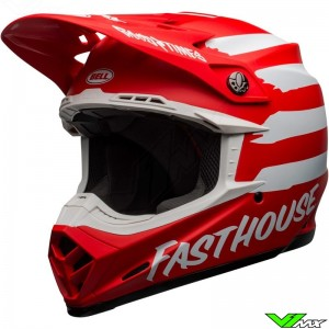 Bell Moto-9 Crosshelm - Fasthouse Signia / Rood