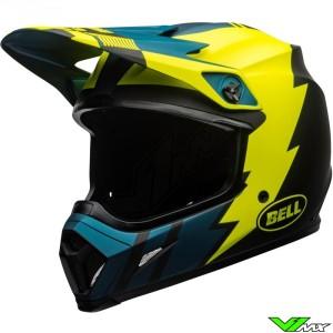 Bell MX-9 Motocross Helmet - Strike / Fluo Yellow / Dark Blue