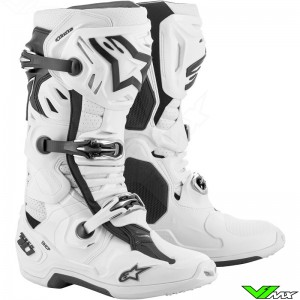 Alpinestars Tech 10 Supervented Motocross Boots - White