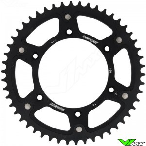 Supersprox Rear Sprocket Black - Suzuki Husqvarna GasGas Beta Sherco